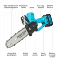 Electric chainsaw battery power