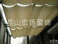 昆山阳光房遮阳窗帘天蓬帘 5