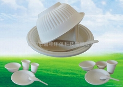 Eco-friendly Biodegradable Disposable Cornstarch dinner set