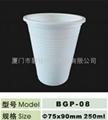 一次性玉米淀粉可生物降解环保水杯250ml 1