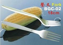 粟米可生物降解绿色环保可堆肥餐具 刀叉勺