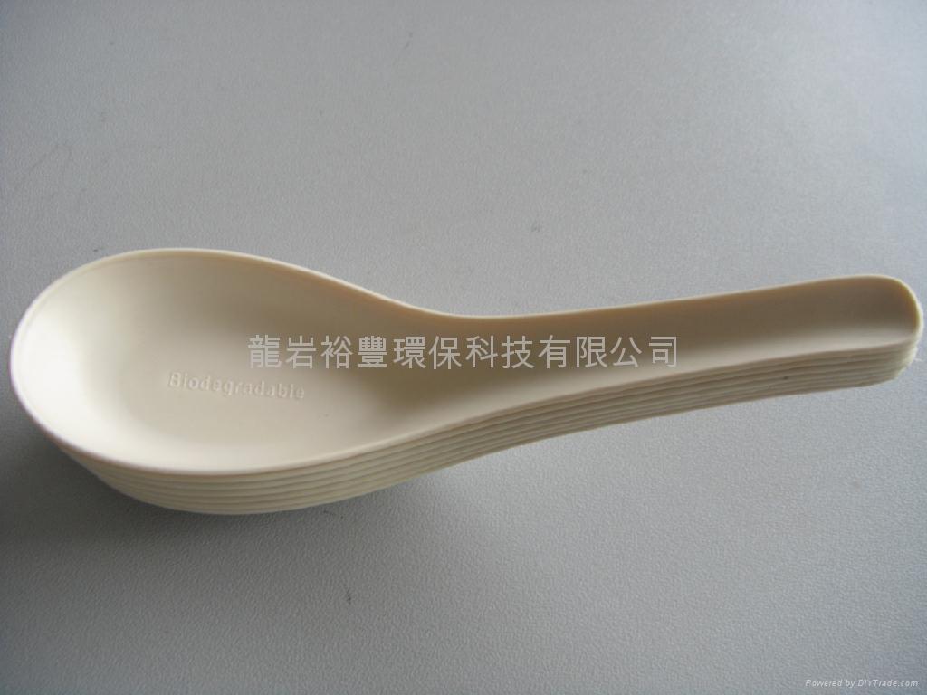 玉米淀粉一次性可生物降解餐具 中式汤匙 5