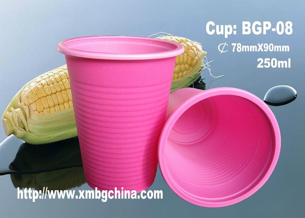 绿色环保可生物降解玉米淀粉水杯 4