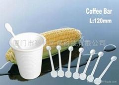 一次性可降解玉米淀粉咖啡棒