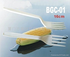 dispostable cornstarch biodegradable tableware,fork