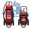 MOBILE TROLLEY FIRE EXTINGUISHERS, Dry Powder Fire Extinguisher with wheel, CO2
