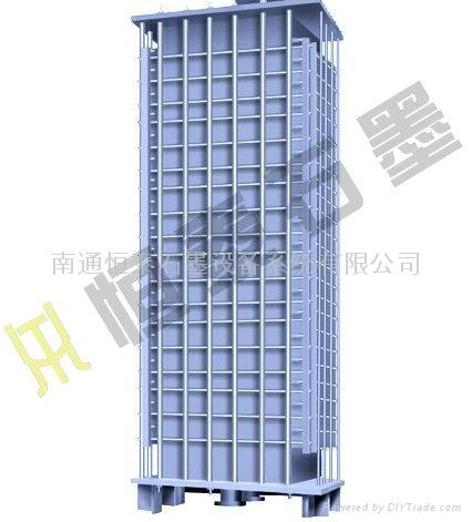 3JK- type rectangle square hole type graphite heat exchanger 4