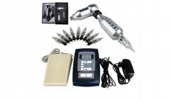 RCA Hawk Tattoo Kit Permanent Makeup Pen+ Digital Power Supply+Pedal +10 Needles