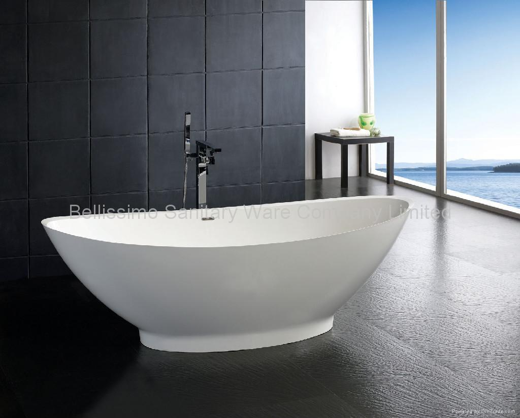 very beautiful tubs one piece corian bathtub bs 8609. Black Bedroom Furniture Sets. Home Design Ideas