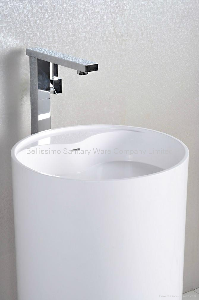 Round Pedestal Sink : Round Pedestal Bathroom Sink Basin BS-8505 - Bellissimo (China ...