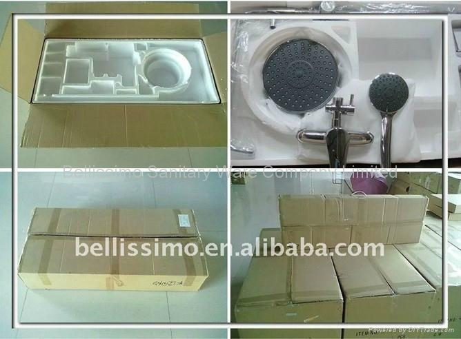 Hot Sell Chrome Finished Bath & Shower Waterfall Faucet BS-F51008 2