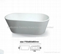 Resin freestanding fibreglass bath tub BS-6202B