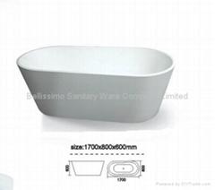 Resin freestanding fibreglass bath tub