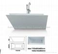 New style acrylic bathtub BS-6207