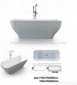 Fancy indoor acrylic bathtubs BS-6209