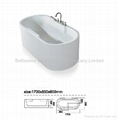 Acrylic bathtub factory popular 1700mm bathtub BS-6211