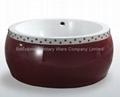 Round red acrylic bathtub BS-6507