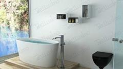 New design Oval Bathtub,Enamel Stone Resin Bathtub BS-8602