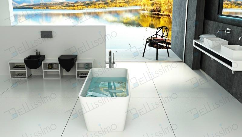 Europe Style Tubs,Free Standing bathtub,Square Bathtub BS-8603