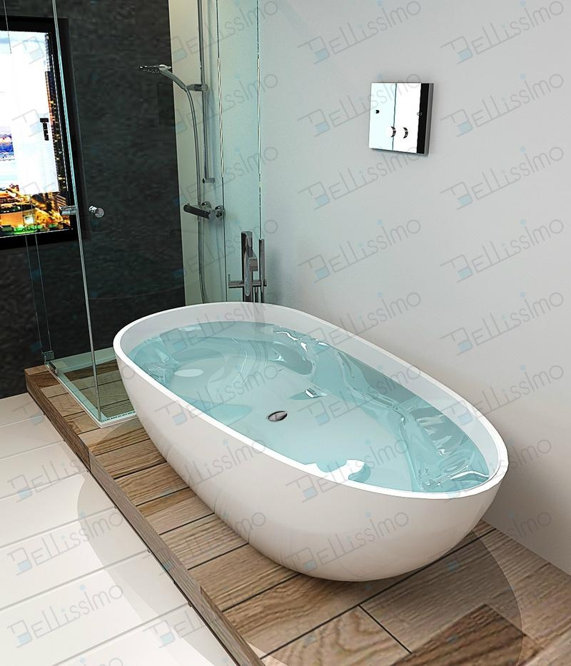 Beautiful Bathtub,Man made stone bath tb,Oval Bathtub BS-8608(More ...