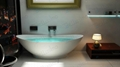 Very Beautiful Tubs ,One Piece Corian Bathtub BS-8609