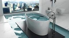 Sanitary Ware Badewanne Bathtub, Artistic Stone Resin  Bathtub BS-8610