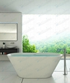 Artificial stone bathtub,Free Standing Bathtub BS-8619