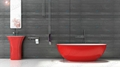 Red tubs,Oval stone bathtub,hot tub,bathtub manufacturer BS-8628 5