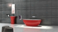 Red tubs,Oval stone bathtub,hot tub,bathtub manufacturer BS-8628