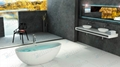 Red tubs,Oval stone bathtub,hot tub,bathtub manufacturer BS-8628 1