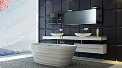 Very Beautiful,Artistic Bathtub,Stone Resin Bath Tub BS-8631