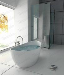 New Design  Bathtub,Solid surface tubs Foshan,Shape boat (BS-8633A)