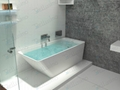 Top quality solid surface bathtub ,Unique shape Bathtub BS-8634