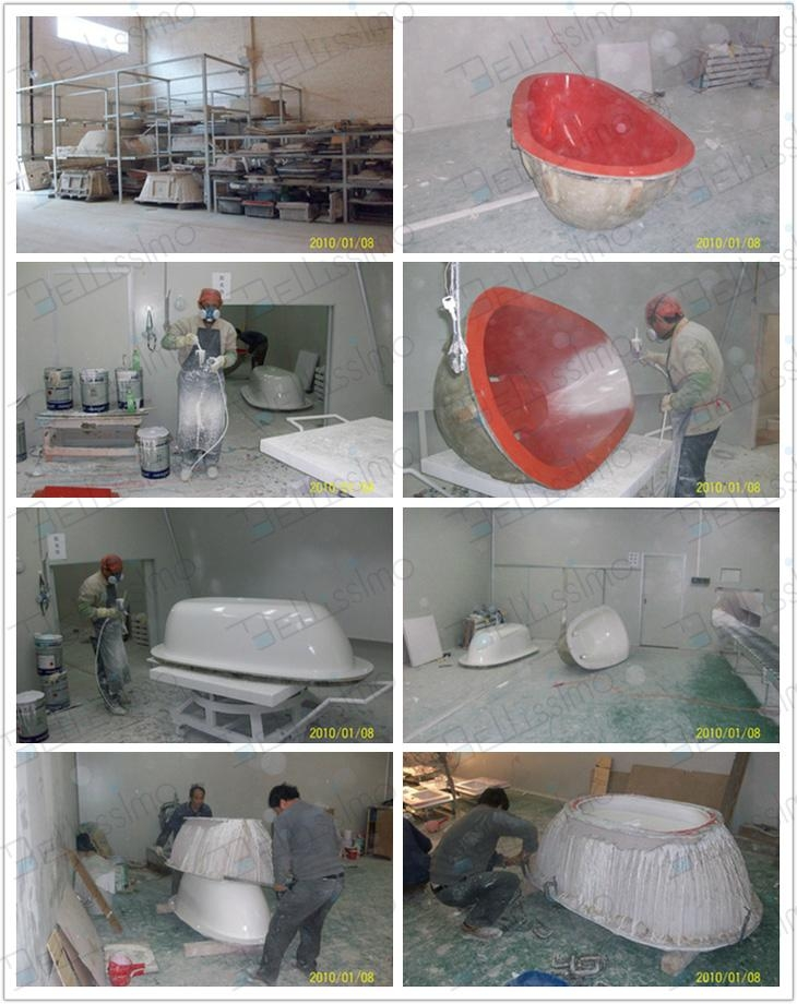 Hot sell Bath tub,,bathtub ,artificial stone Bathtub ,BS-8641  7