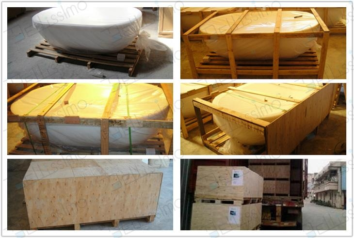 Hot sell Bath tub,,bathtub ,artificial stone Bathtub ,BS-8641  9