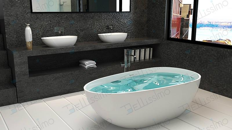 Best Selling Fashionable Solid Surface Bathtub BS-8608