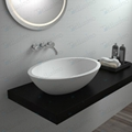 Beautiful Modern Stone Resin Basin ,Oval Sink BS-8302