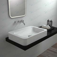 Hot Sell Bathroom Product ,Sanitary Basin, Rectangle artificial  Sink BS-8319