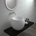 Round luxury Bathroom stone resin basin,Solid surface basins(Round sink) BS-8331