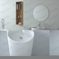 Round Pedestal Bathroom Sink Basin BS-8505