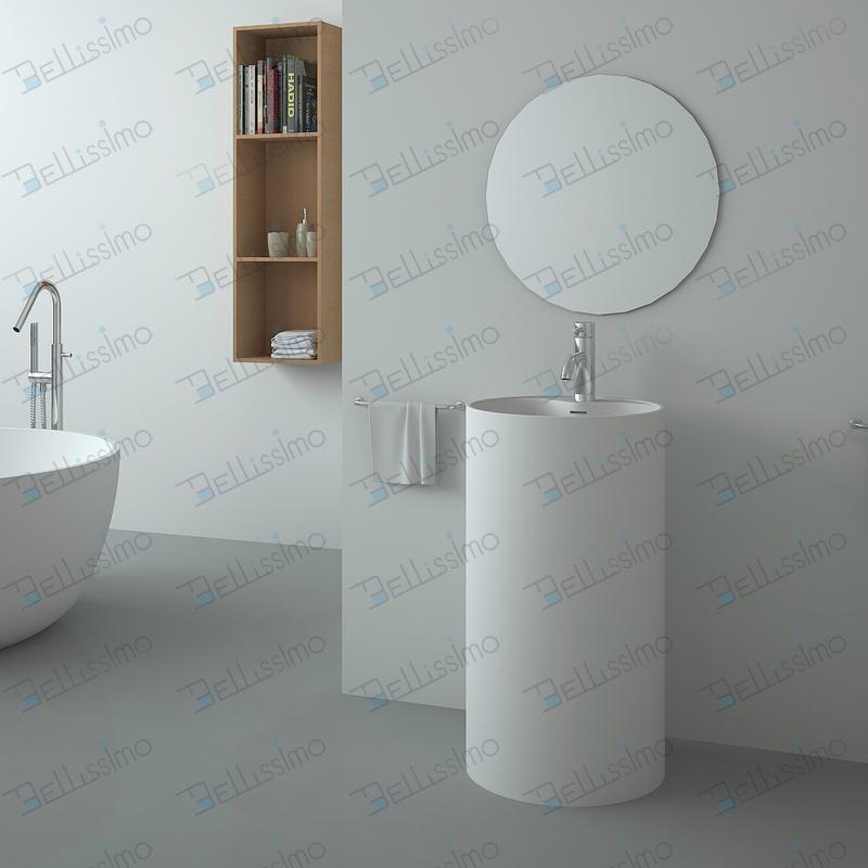 Merveilleux Round Pedestal Bathroom Sink Basin BS 8505 1 ...