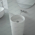 Luxurious Cloakroom ,Natural Pedestal Sink  BS-8510