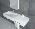 Top Sell  Rectangle Basin,Man Made Stone Hanging  Sink BS-8404