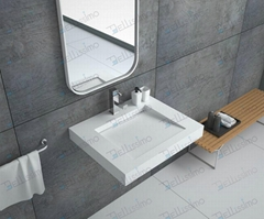 New Design Bathroom Stone Resin Wash Basin Sink BS-8410