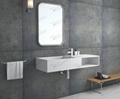Composite Stone bathroom Basin,Wall-hung  Sink BS-8411
