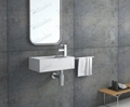 Washroom Solid Surface Basin, Rectangle Resin Basin BS-8413