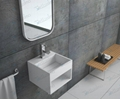 Modern design,Square Man Made Stone  white Basin BS-8414