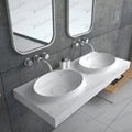 New Model Solid Surface Basin,Wall-hung double SinkBS-8420