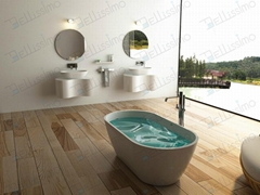 Top Sell Artificial Stone Bathtub,Oval Bahtub  BS-8612B