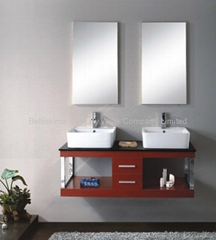 Hot Sale!Single Simple European Style Solid Wood Furniture Mirror HC-5019